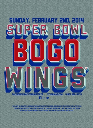 SuperBowl BOGO Wings