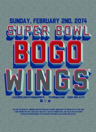 SuperBowl BOGO Wings